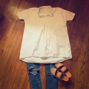 Tops - Clad and Cloth/Grey Lab White button down
